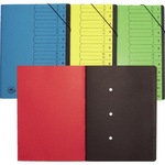 Ordnungsmappe DIN A4 420g/m² Colorspankarton blau 12 Fächer