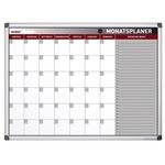 Bi-office Monatsplaner Earth-It 90 x 60 cm (B x H) 1 Monat inkl. Marker, Magnete Aluminium weiß