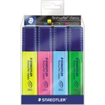 STAEDTLER® Textmarker Textsurfer® classic 364 1-5mm gelb, blau, grün, pink 4 St./Pack.