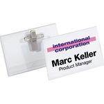 DURABLE Namensschild 75 x 40 mm (B x H) Kombiklemme transparent 5 St./Pack.