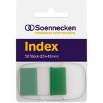 Soennecken Haftstreifen Index 25 x 43 mm (B x H) grün 50 Bl.