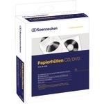 Soennecken CD/DVD Hülle 12,4 x 12,4 cm (B x H) Papier weiß 100 St./Pack.