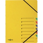 PAGNA Ordnungsmappe EASY DIN A4 265g/m² Pressspankarton gelb 7 Fächer