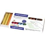 magnetoplan® Tafelkreide ohne Papierhülle farbig sortiert 12 St./Pack.