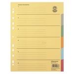 Soennecken Ordnerregister DIN A4 blanko Recyclingkarton mehrfarbig 6 Registerblätter