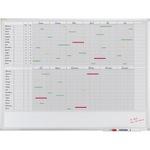 Franken Jahresplaner X-tra!Line 120 x 90 cm (B x H) 12 Monate 30 Mitarbeiter/Projekte Aluminium/Kunststoff weiß