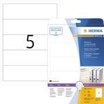 HERMA Rückenschild breit/kurz 54 x 190 mm (B x H) weiß 125 St./Pack.