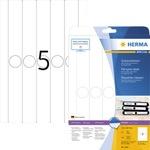 HERMA Ordnerrückenetikett SPECIAL schmal/lang 34 x 297 mm (B x H) mit Griffloch weiß 125 Etik./Pack.