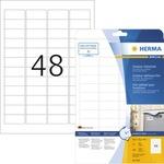 HERMA Folienetikett 45,7 x 21,2 mm (B x H) weiß 480 Etik./Pack.