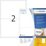 HERMA Haftetikett 199,6 x 143,5 mm (B x H) wieder ablösbar Papier weiß 200 Etik./Pack.
