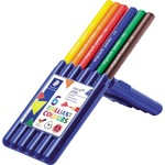 STAEDTLER® Farbstift ergo soft® jumbo 158 gelb, rot, blau, orange, grün, van-Dyke-braun 6 St./Pack.