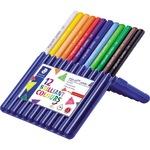 STAEDTLER® Farbstift ergo soft® jumbo 158 weiß, gelb, rot, blau, lichtblau, orange, hautfarben, grün, gelbgrün, violett, van-Dyke-braun, schwarz 12 St./Pack.