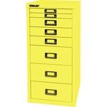 Bisley Schubladenschrank MultiDrawer™ 279 x 590 x 380 mm (B x H x T) 8 Schubfächer Stahl Farbe: zinkgelb