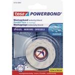 tesa® Montageklebeband Powerbond® Spiegel Innenbereich 19 mm x 1,5 m (B x L) beidseitig klebend weiß