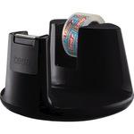 tesa® Tischabroller Easy Cut® Compact 19 mm x 33 m (B x L) inkl. 1 Rolle tesafilm® kristall-klar 15 mm x 10 m (B x L) ohne Lösungsmittel schwarz