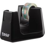 tesa® Tischabroller ecoLogo® Easy Cut Smart 19 mm x 33 m (B x L) inkl. 1 Rolle tesafilm® Eco & Clear, 15 mm x 10 m (B x L) ohne Lösungsmittel schwarz