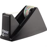 tesa® Tischabroller Easy Cut® Economy ecoLogo® Promo 19 mm x 33 m (B x L) inkl. 1 Rolle tesafilm® Eco & Clear, 15 mm x 10 m (B x L) ohne Lösungsmittel schwarz