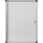 Nobo® Schaukasten Innenbereich 68 x 51 x 2,5 cm (B x H x T) 4 x DIN A4 mit Schloss Aluminium/Kunststoff silber