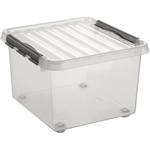Sunware Aufbewahrungsbox the q-line 40 x 28 x 40 cm (B x H x T) 26l Kunststoff transparent