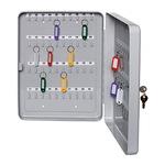 ALCO Schlüsselschrank 28 x 37 x 5,5 cm (B x H x T) inkl. 2 Schlüssel Stahlblech, lackiert lichtgrau