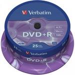 Verbatim DVD+R 4,7GB/120 Min 25er Spindel 43500