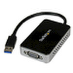 StarTech USB 3.0 SuperSpeed auf VGA Multi Monitor Adapter - Externe Grafikkarte mit USB Hub Externer Videoadapter 16 MB USB32VGAEH