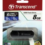 Transcend USB Stick 8GB TS8GJF600 JetFlash 600 USB 2.0 schwarz