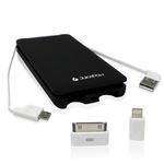 JuicePow OCTO 5000mAH portable Batterie Powerbank, Schwarz für Smartphone und Tablets