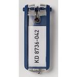 DURABLE Schlüsselanhänger KEY CLIP 2,4 x 6,8 x 1,5 cm (B x H x T) Kunststoff blau 6 St./Pack.