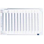 Legamaster Jahresplaner Accents Linear Cool 90 x 60 cm (B x H) 12 Monate 1 Mitarbeiter/Projekt ínkl. 4 Boardmarker, magnetische Symbole Aluminium/Kunststoff blau