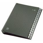 ELBA Pultordner DIN A4 1-31 PVC schwarz 32 Fächer