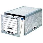 Bankers Box® Aufbewahrungsbox System 35 x 29 x 54,5 cm (B x H x T) DIN A4 Karton, 100 % recycelt grau/weiß