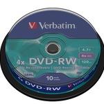 Verbatim DVD-RW 4,7GB/120 Min 10er Spindel 43552