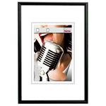 Hama Bilderrahmen Chicago 50 x 70 cm (B x H) 30 x 45 cm (B x H) Reflexglas Aluminium, eloxiert schwarz