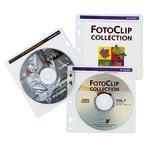 Hama CD/DVD Hülle 40 14,5 x 14 cm (B x H) Polypropylen transparent/weiß 40 St./Pack.