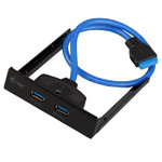 I-Tec USB 3.0 Extender - Anschlüsse am vorderen Bedienfeld des Speicherschachts U3EXTEND