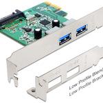 DeLock PCI Express card > 2 x USB 3.0 - USB-Adapter - PCIe Low Profile 89356