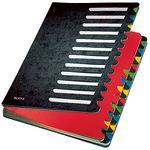 Leitz Ordnungsmappe Deskorganizer Color DIN A4 350g/m² Karton, marmoriert schwarz 24 Fächer