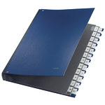 Leitz Pultordner DIN A4 A-Z Polypropylen blau 24 Fächer