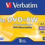 Verbatim DVD+RW 4,7GB/120 Min 5er Jewel Case 43229