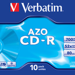 Verbatim CD-R 700MB/80 Min 10er Jewel Case 43327