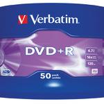 Verbatim DVD+R 4,7GB/120 Min 50er Spindel 43550