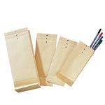 Musterbeutel 120 x 285 x 50 mm (B x H x T) Lochung für Klammer natronbraun 250 St./Pack.