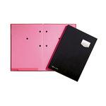 PAGNA Unterschriftenmappe de Luxe DIN A4 Kunststoff schwarz rosa 10 Fächer
