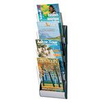 Paperflow Prospekthalter Integral 23,2 x 73,5 x 9 cm (B x H x T) DIN A4 Polypropylen alu 4 Fächer