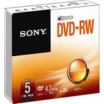 Sony DVD-RW 4,7GB/120 Min 5er Jewel Case 5DMW47A