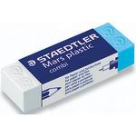 STAEDTLER® Radierer Mars® plastic combi Bleistifte, Buntstifte, Tinte 2,3 x 1,3 x 6,5 cm (B x H x L) PVC weiß/blau