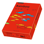 Rainbow Multifunktionspapier Color DIN A4 160g/m² intensivrot 250 Bl./Pack.