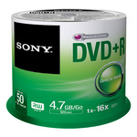 Sony DVD+R 4,7GB/120 Min 50er Spindel 50DPR47SP