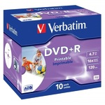 Verbatim DVD+R 4,7GB/120 Min 10er Jewel Case 43508